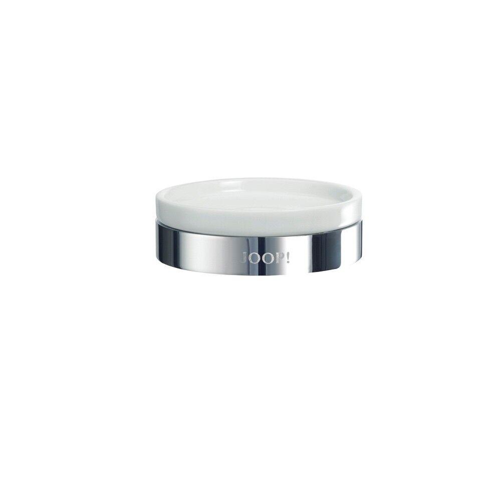 JOOP  Chromeline Seifenschale chrom Keramik weiß elegant Bad Accessoires