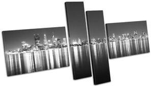 Australia-Perth-Skyline-Night-City-MULTI-CANVAS-WALL-ART-Picture-Print