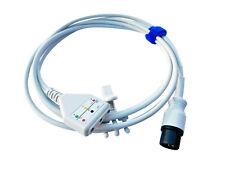 Ekg Ecg Trunk Cable 3 Lead For Patient Monitors 6 Pin Aha Warranty Reusable 7ft