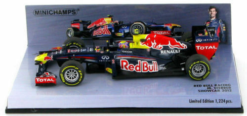 rouge Bull - 2012 - Mark Webber - Edition 1  of 1.224 - Minichamps - 1 43 neuf  garanti