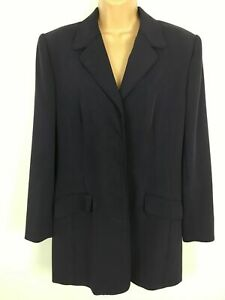 WOMENS COUNTRY CASUALS PURPLE CONCEALED BUTTON SMART LIGHTWEIGHT COAT SIZE UK 16