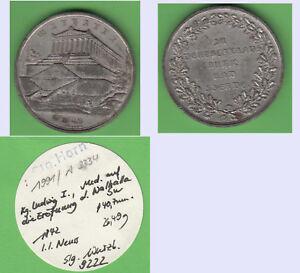 Regensburg-Medaille-1842-Walhalla-aus-Slg-Horn-T2482-stampsdealer