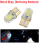 T10-194-168-W5W-COB-4-SMD-LED-CANBUS-Silica-Bright-White-License-Light-Bulb thumbnail 1