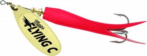 Mepps Flying C Spinner 7//8 Oz Salmon Steelhead Fishing Lure FC78-RD-G Red//Gold