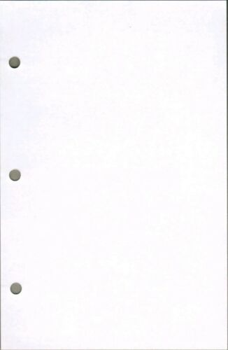 Eagle Notebook unruled 8.5 x 5.5 Inches white 3 hole 100 sheets