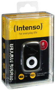 Intenso-MP3-Player-Music-Mover-8GB-1-Zoll-Display-Clip-Funktion-schwarz