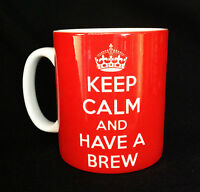 NEW KEEP CALM AND HAVE A BREW GIFT MUG CUP CUPPA TEA SECRET SANTA OFFICE NOVELTY