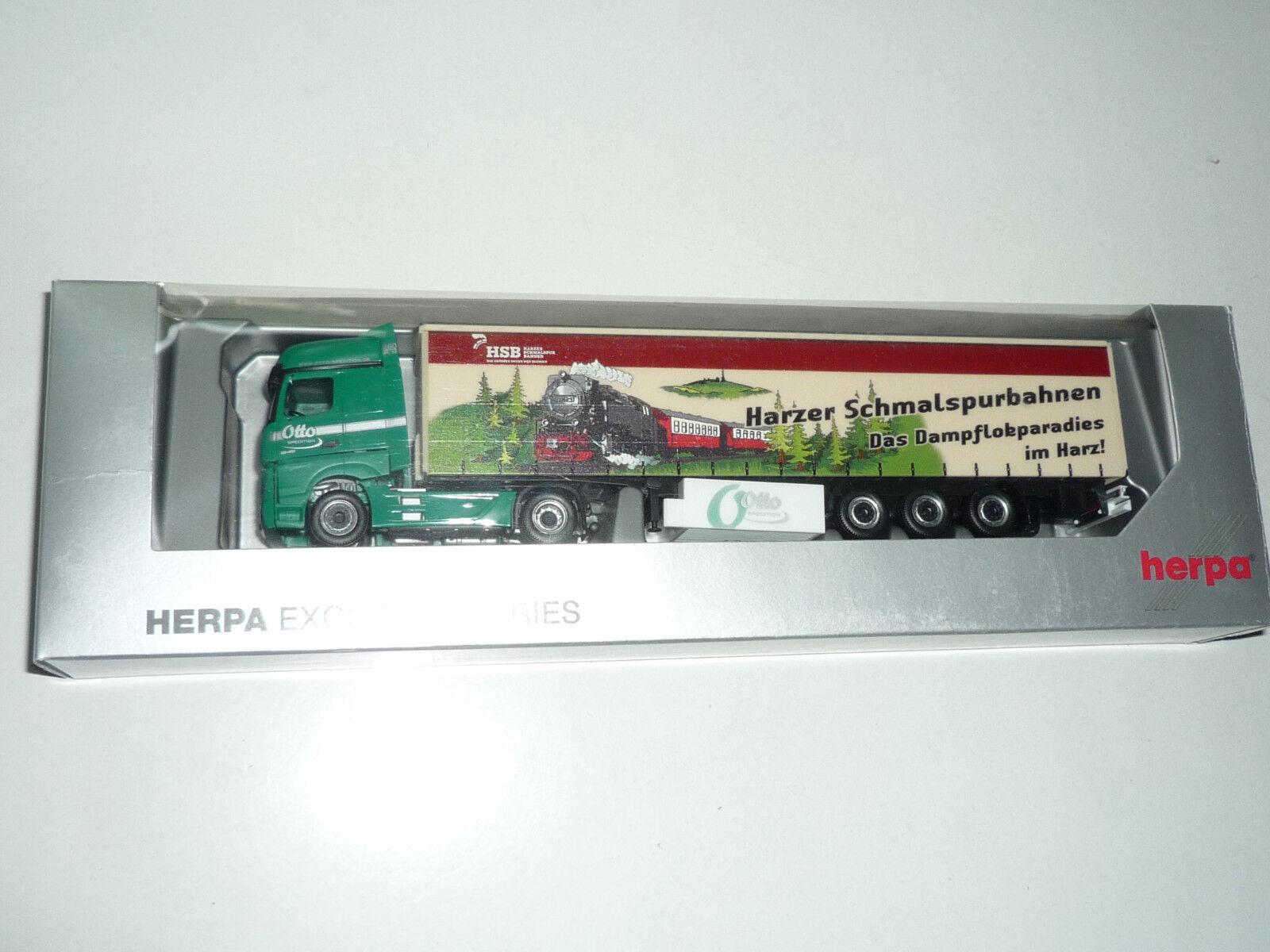 HERPA - Actros Otto Sped Harzer Schmalspurbahnen HSB  - OVP. Neu X414X