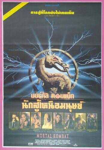 1995 Thai Movie Poster Original THAI VERSION Mortal Kombat