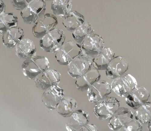 """19X10-10X8MM  ROCK CRYSTAL GEMSTONE GRADE AA FACETED NUGGET LOOSE BEADS 7.5/"""""""