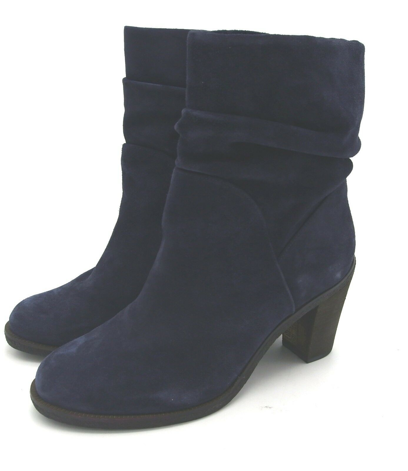 J6657 Women's Vince Camuto Parka Verona Suede Dark Navy Ankle Boot 10 M