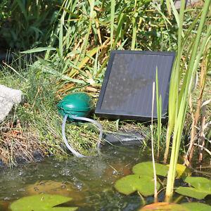 solar sauerstoff pumpe f r teich gartenteich sauerstoffpumpe teichbel fter ebay