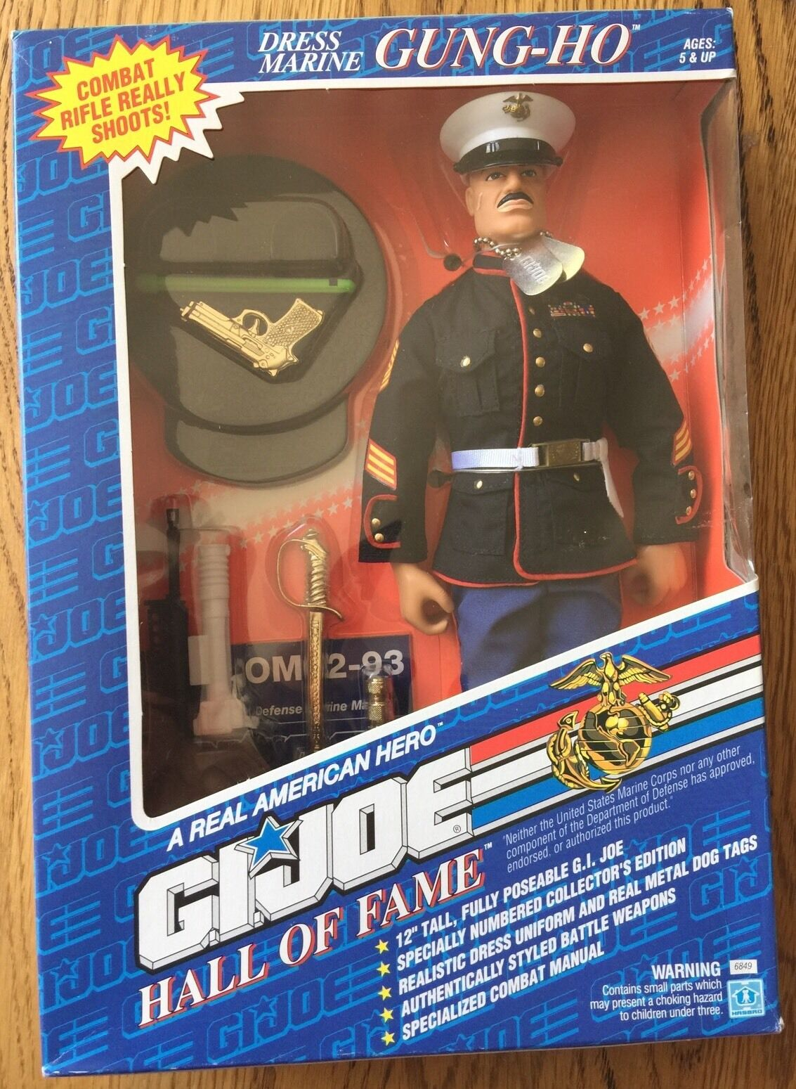 Hasbro Production Sample G.I. Joe Hall of Fame Dress Marine Gung-Ho gold Weapons