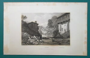 FRANCE-View-of-Thiers-1833-Antique-Print-Engraving