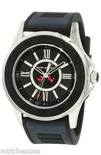 Juicy Couture Rich Girl 1900875 Black Silver Jelly Strap Analog Women's Watch