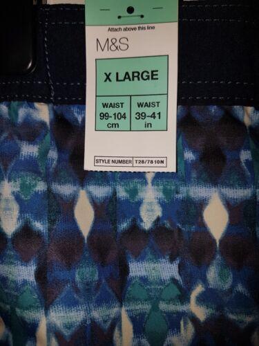 "BNWT MENS M/&S NORTH COAST BLUE MIX QUICK DRY SWIMMING SHORTS SIZE XL /""X LARGE/"""