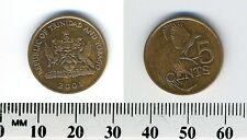 Trinidad & Tobago 2001 - 5 Cents Bronze Coin - Bird of Paradise