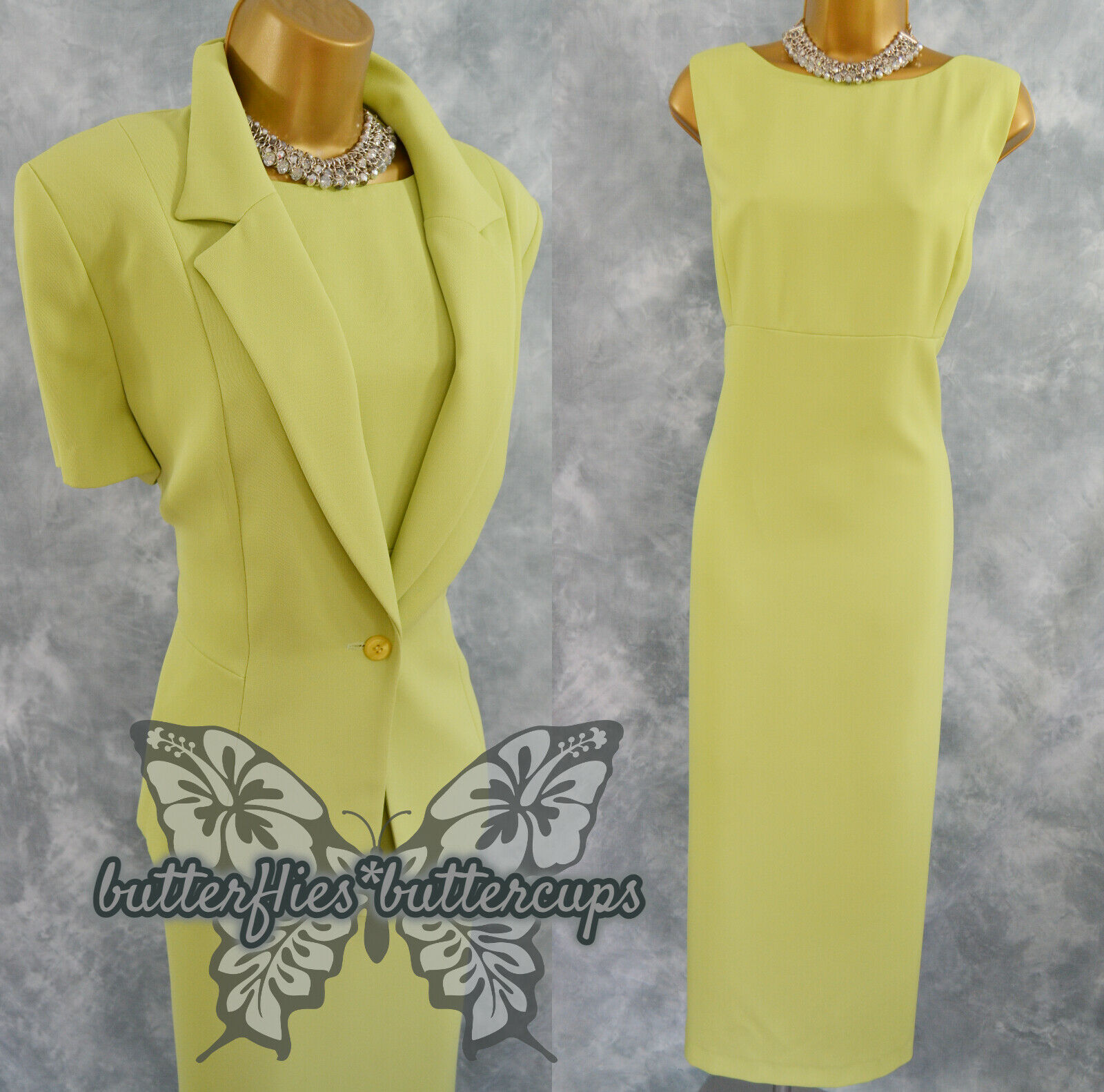 ~ GRACE COLLECTION ~ Size 16 Lime Dress and Jacket Suit Mother of the Bride