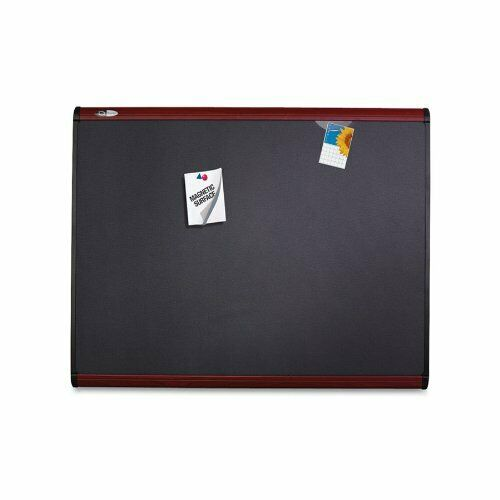 Quartet Magnetic Fabric Bulletin Board - 24  Height X 36  Width - Fabric Surface