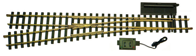 USA Trains 81615 G Scale Remote Left Hand Switch Solid Brass Rail