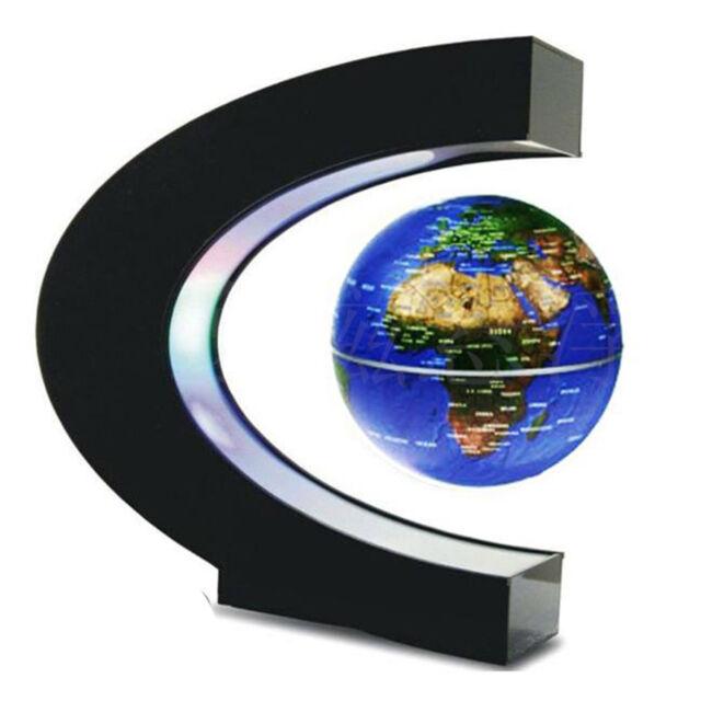 Yosoo funny c shape magnetic levitation floating globe world map led led light c shape decoration magnetic levitation floating world map globe us gumiabroncs Choice Image