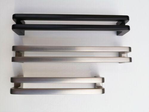 Cabinet Handle for Drawer Cabinet Matt Black Brushed Nickel Zinc Alloy 96 128mm