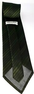 Giorgio-Armani-Cravatte-Men-039-s-Tie-100-Silk-Tie-Green-striped