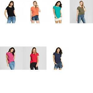 NWT-Universal-Thread-Women-039-s-Meriwether-Crew-Neck-Short-Sleeve-T-Shirt