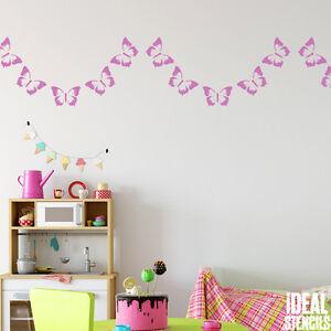 Schmetterling Girlande Schablone Kinderzimmer Wand Rand ...