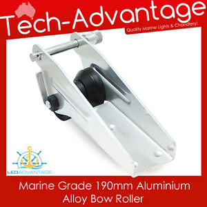 NEW 190MM ALUMINIUM MARINE ALLOY BOAT YACHT ANCHOR SPRING LOADED PIN BOW ROLLER