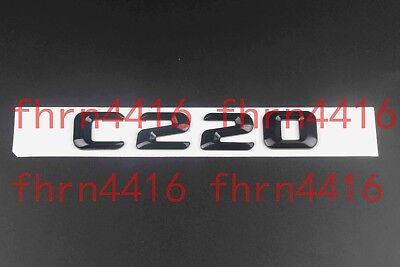 Gloss Black C 250 Letters Trunk Emblem Badge Sticker for Mercedes Benz C250