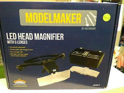 Lupa De Cabeza De Led MM013 Bachmann Modelmaker con lentes 5
