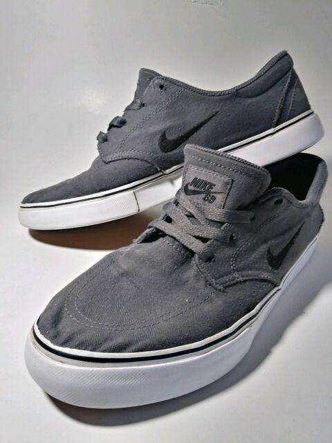 NIKE SB Clutch Canvas Skate Shoes Men's Sz: 8 729825 007 GrayBlackWhite