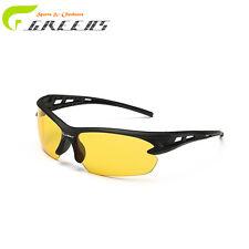 Gafas de sol noche, amarillas mejoran la vision nocturna.#399, mas funda.