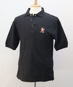 Disney World Grumpy Short Sleeve Cotton Black Polo Shirt Small Men NWT