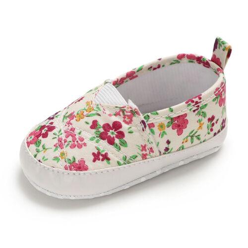 Newborn Baby girl soft sole Crib Shoes Slip-on Bébé Baskets 0-6 6-12 12-18 M