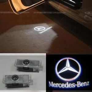 For mercedes benz cls cla c207 2x laser led door courtesy for Mercedes benz door lights