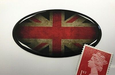 Ovale Fade to Black Union Jack British UK GB flag vinyle voiture moto autocollant 150 mm