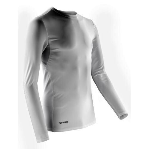 Spiro Compression Body Fit Long Sleeves Base Layer Tshirt Mens Sports Wear Tops