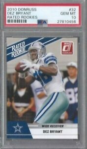 DEZ-BRYANT-2010-Panini-Donruss-RC-Rated-Rookie-PSA-10-GEM-MINT-HOT-RAVENS