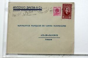 WW2-Beyrouth-Lebanon-Syria-France-Aix-Letter-Envelope-Cover-VB670