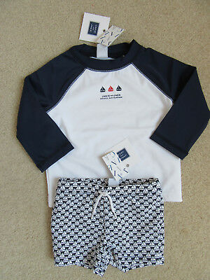 "NWT Janie and Jack /""First Picnic/"" Sailboat Rash Guard//Swimsuit Trunks 3 6 12 18"
