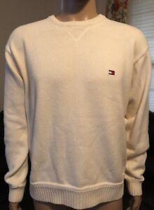 4d220a1b Vintage Tommy Hilfiger Beige Crewneck Sweater Men's Size XL Preppy ...