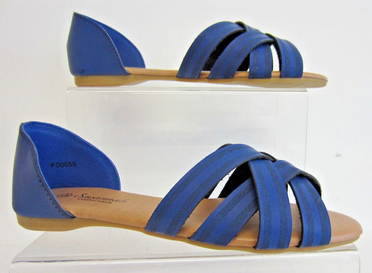 Savannah Correa f00059 Mujer Plano x Correa Savannah Azul Marino (Azul) Sandalias uk3-8 (R27A) 268d03