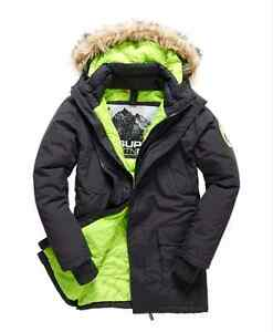b26caee1edd0 Image is loading Mens-Superdry-Everest-Twin-Peaks-Coat-jacket-rrp-