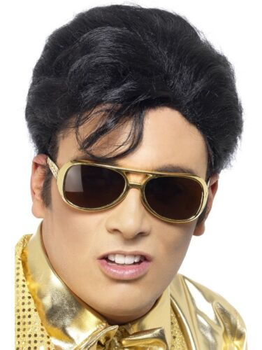 Mens Official Elvis Presley The King Fancy dress Costume Wig Lot Accessories