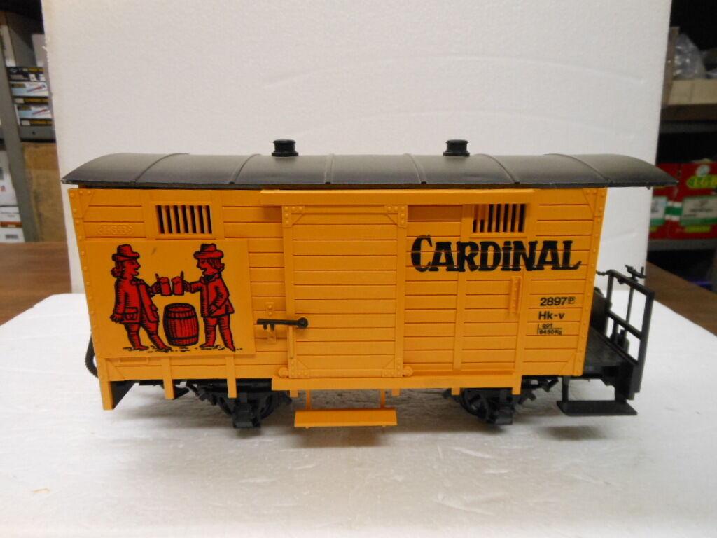 LGB G Scale 4034 Box Car-Cardinal