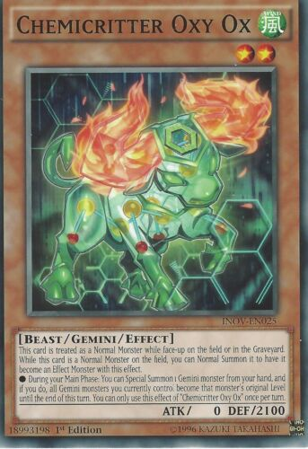 INOV-EN025 1ST EDITION Details about  /YU-GI-OH CARD CHEMICRITTER OXY OX
