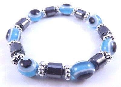 Blue Bead Evil Eye Fatima Hamsa Hand Kabbalah Bracelet USA SELLER