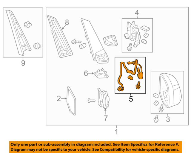 Honda Oem Odyssey Door Side Rear View Mirrorwiring Harness Left Rhebay: Harness View Diagram Jeep Cj5 Wiring Ebay At Gmaili.net